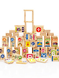 Blocos de Construir para presente Blocos de Construir Madeira Natural 3-6 anos de idade Brinquedos