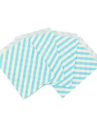 Promotion Paper bags Light Sky Blue  5 x 7inch Chevron dot stripe horizontal Flower Treat Craft Paper Popcorn Bags Food Safe Party Favor Best Gift Bag
