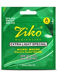 Ziko Electric Guitar Strings Set Extar Light Soft Guitar Strings Electric 009 Strings For Guitar Parts