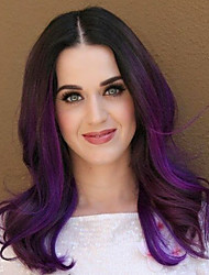 Fashion Long Wavy Purple Mix Cosplay/Party Full Synthetic Wig