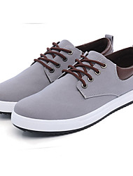 Men's Sneakers Light Soles Canvas Summer Fall Outdoor Low Heel Royal Blue Gray Black Under 1in