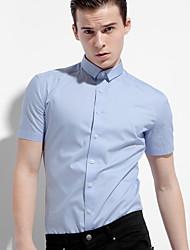 Herren Solide Einfach Aktiv Lässig/Alltäglich T-shirt,Stehkragen Sommer Kurzarm Polyester Dünn