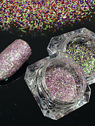 2bottles/set 0.2g/bottle Fashion Gorgeous Galaxy Starry Effect Nail Art Platinum Glitter Power DIY Shining Decoration BG02&04