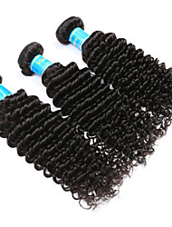 Vinsteen Indian Deep Wave Virgin Hair Weave 3 Bundles Unprocessed Human Hair Extensions Natural Human Hair Weave Silky Human Hair Bundles