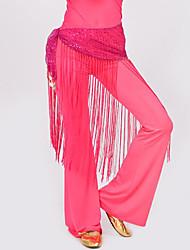 Belly Dance Hip Scarves Women's Performance Polyester Tassel 1 Piece Hip Scarf