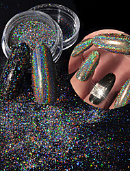 Laser Colorful Powder Dust Shell Colorful Nail Art Decoration