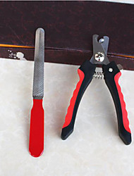 Cat Dog Grooming Health Care Cleaning Scissor Nail File Portable Red