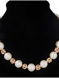 Strands Necklaces  Women's Chain Necklaces Euramerican Simple Style Elegant Pearl Daily Party Movie Jewelry