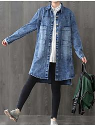 Giacca di jeans Da donna Rotonda Manica lunga
