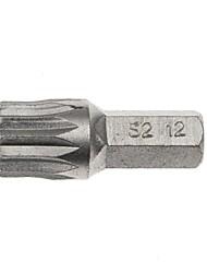 Escudo de aço 5 pedaços série de 8 mm 30 mm de comprimento doze angulares com ajuste de cabeça m12 / 1