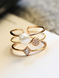Elegant creative  Cubic Zirconia 18K Gold Plated Ring Jewelry For Wedding Anniversary
