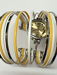Mulheres Relógio de Moda Quartzo Metal Banda Brilhante Bracelete Casual Cores Múltiplas