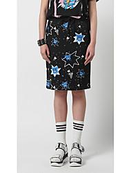 Femme simple Chic de Rue Actif Sortie Décontracté / Quotidien Vacances Au dessus des genoux Jupes,Crochet Mince Fleur Motif des animaux