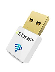 Edup usb wirelss wifi adaptador 600mbps doble banda 11ac mini tarjeta de red inalámbrica dongle ep-ac1619