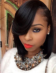 New Style Brazilian Virgin Hair Bob Wigs Straight Hair Lace Front Human Hair Wigs Short Virgin Hair Bob Wig with Side Bang