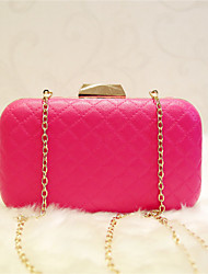 Women Shoulder Bag PU All Seasons Casual Formal Date Baguette Magnetic Fuchsia Black White