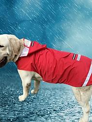 Кошка Собака Толстовки Дождевик Одежда для собак На каждый день Водонепроницаемый Сплошной цвет Красный Синий