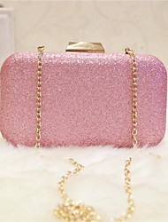 Women Evening Bag PU All Seasons Event/Party Party & Evening Club Baguette Magnetic Blushing Pink