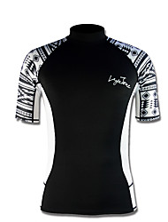 Men's 2mm Wetsuit Top Sports Tactel Diving Suit Short Sleeve Tops-Diving Spring/Fall Print