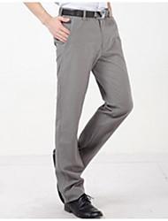 U&Shark Men's Light Gray Checks Pattern Casual Business Pants Trousers /xxk-005