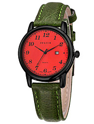 Women's Fashion Watch Japanese Quartz Calendar Water Resistant / Water Proof Leather Band Casual Black Brown Green