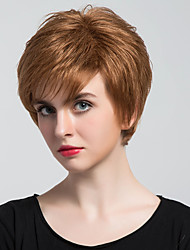 New Fashion Short Straight Frivolous Capless Human Hair Wigs