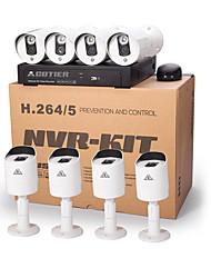 poe cotier® red 720p sistema kits nvr 8ch / corte IR / hd / ip cámara n8b3 / kit-poe