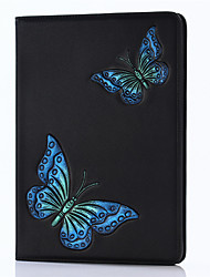 For iPad 2017 9.7inch Luxury Genuine leather Cases Cover Embossed Pattern 3D Cartoon Butterfly Case For ipad Air2/Air1/ipad Pro 9.7