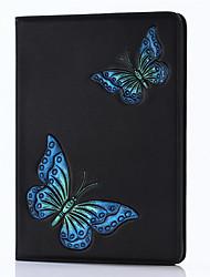 Pour ipad 2017 Boîtiers en cuir véritable de luxe de 9.7 pouces couvrent une estampe en relief pour papiers peints 3d pour iPad air2 /