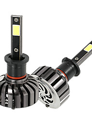 Kkmoon paire de h3 dc 12v 40w 4000lm 6000k led phare kit lampe ampoules