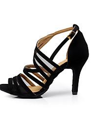 Персонализируемая Для женщин Латина Танцевальные кроссовки Сальса Бархатистая отделка СандалииТренировочные Для начинающих