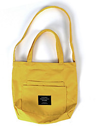 Women Shoulder Bag Canvas All Seasons Casual Shopper Magnetic Arm Green Yellow Pool