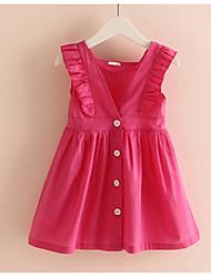 Sleeveless Ruffle Children's Princess Dress Children's Wear Clothes Summer 2017 Girls Baby Vest Dress Skirt