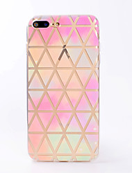 For iPhone X iPhone 8 Case Cover Transparent Pattern Back Cover Case Geometric Pattern Soft TPU for Apple iPhone X iPhone 8 Plus iPhone 8
