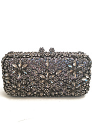 Lady Clear Gun Clutches Decorated with Crystals for Evening/Event/Cocktail Occasions