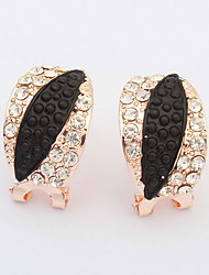 The European and American fashion imitation leaf earrings