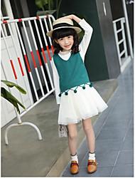 Девочки Блуза Хлопок Мода Весна