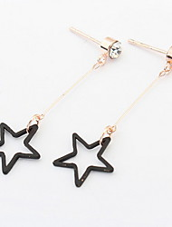 Drop  Earrings Women's Girls'  Simple  Style Black  Star Gold  Euramerican  Fashion  Contracted  Earrings  Daily  Party  Movie Jewelry