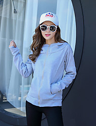 Women's Casual/Daily Sophisticated Summer Denim Jacket,Geometric Stand Long Sleeve Long Linen