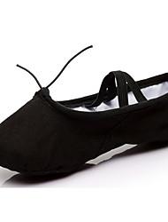 Персонализируемая Для женщин Латина Полотно Дерматин На плоской подошве Концертная обувь На плоской подошве Белый Черный Красный Розовый