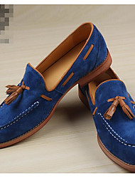 Men's Loafers & Slip-Ons Comfort Suede Nappa Leather Spring Casual Comfort Dark Grey Royal Blue Flat