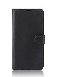 For sony xperia xz premium l1 funda cartera titular de la tarjeta con el soporte flip cuerpo completo caso cuero sólido de color sólido PU
