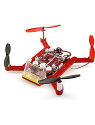 Drone JXD DIYREDDRONE 4CH 6 Eixos - Quadcóptero RC Controle Remoto Cabo USB Manual Do Usuário Hélices