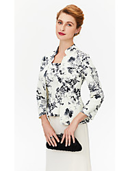 Women's Wrap Coats/Jackets Cotton Wedding Party/ Evening Printing