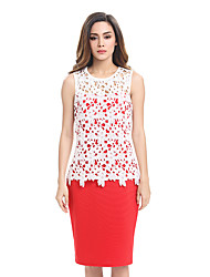 Womens Elegant Lace Sexy Crochet Hollow Out Crochet Charming Pinup Casual Work Office Party Evening Sheath Bodycon Pencil Dress D0493