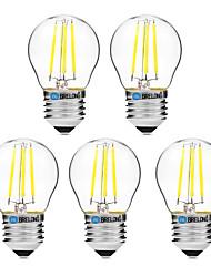 4W Ampoules à Filament LED G45 4 COB 300 lm Blanc Chaud Blanc Intensité Réglable V 5 pièces