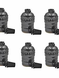 E26 / e27 puce 6 paquettes en métal pour lampe à lampe pour lampadaire ou remplacement d'accessoires anciens projets industriels style diy