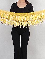 Belly Dance Hip Scarves Women's Performance Nylon Sequin 1 Piece Hip Scarf