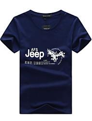 Tee-shirt Homme,Imprimé simple Actif Eté Manches Courtes Col Arrondi Coton Fin