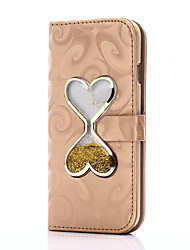 Para el iphone 7 7 más la carpeta del caso de la cubierta de la cubierta del caso con el corazón del soporte que cambia la caja de cuero